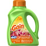 Gain Liquid Detergent with Fresh Lock, Island, 50 Ounce
