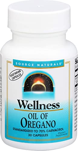 Source Naturals Wellness Oil of Oregano – Standardized to 70 Carvacrol – 30 Vegetarian Capsules