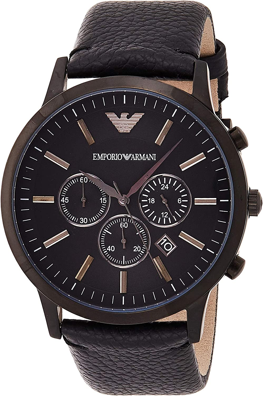 Emporio Armani Men s AR2461 Dress Black Leather Watch
