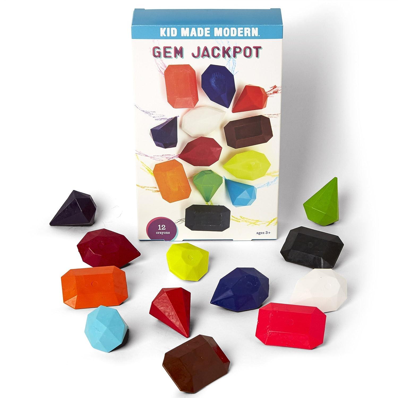 Kid Made Modern Gem Jackpot Crayon Set 12 Fun Shaped Coloring Crayons K019