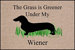 product image for The Grass is Greener Under My Weiner Dachshund Doormat