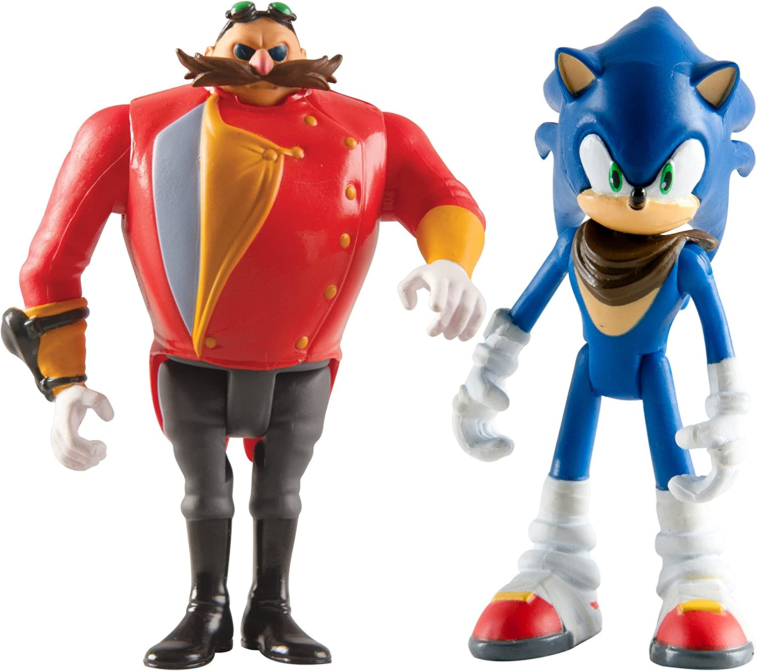 Amazon Com Sonic Boom Small Figure 2 Pack Sonic And Eggman Toys Games