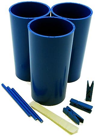 Moldes para hacer velas de 3 pilares, palos, clavijas, masilla y guía de instrucciones: Amazon.es: Hogar