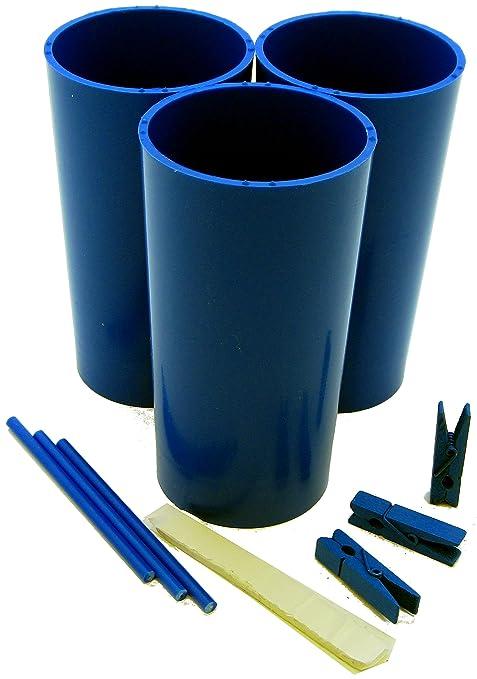 Moldes para hacer velas de 3 pilares, palos, clavijas, masilla y guía de