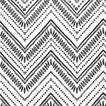 Caltero Modern Circle Oval Stripe Wallpaper 17 7 X 118 Black White Oval Stripe Peel And Stick Wallpaper Self Adhesive Removable Wallpaper Decorative For Living Room Bedroom Interior Wall Amazon Com