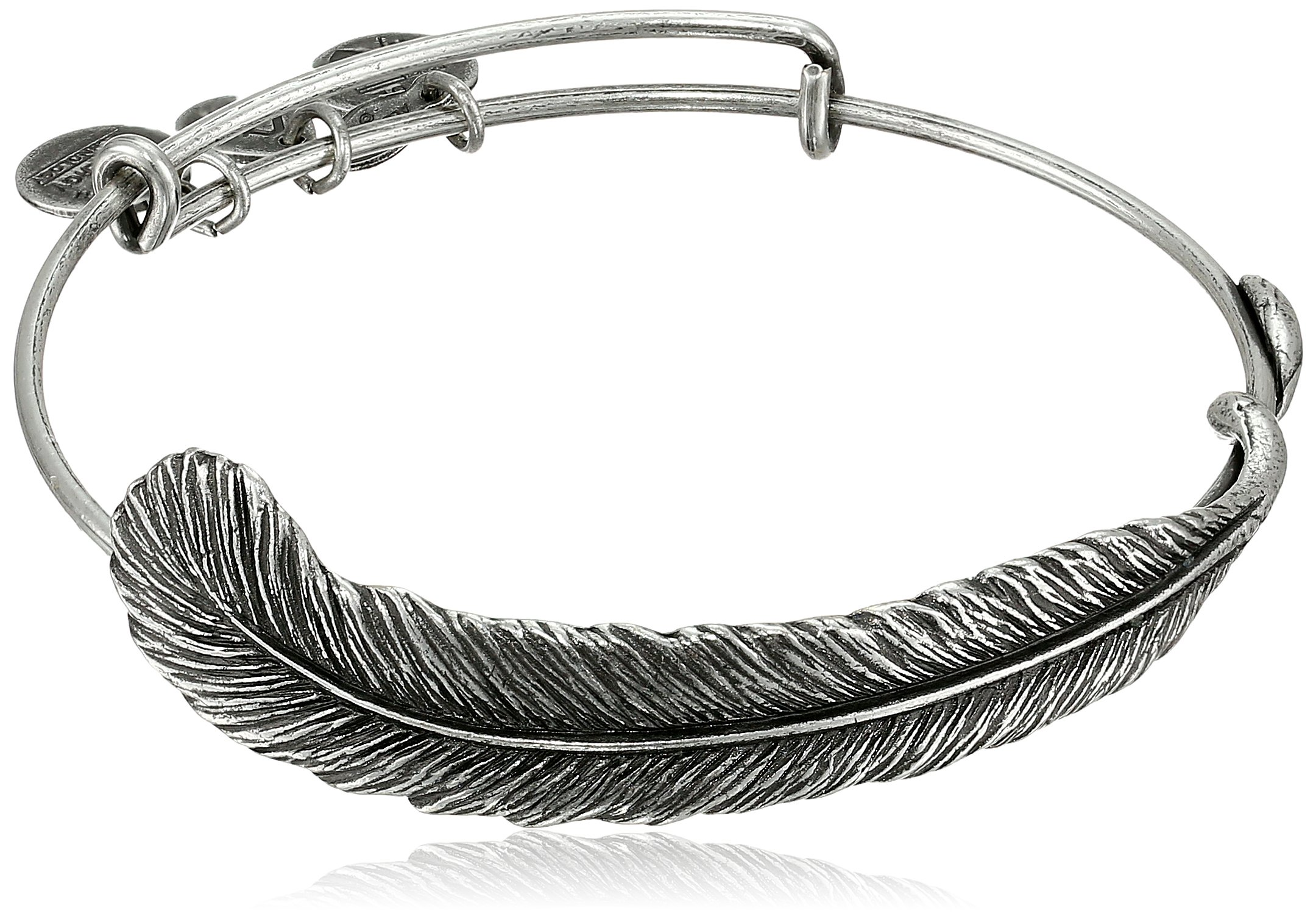 Alex and Ani Earth Sultry ''Plume Feather'' Bangle Bracelet, 7.75''