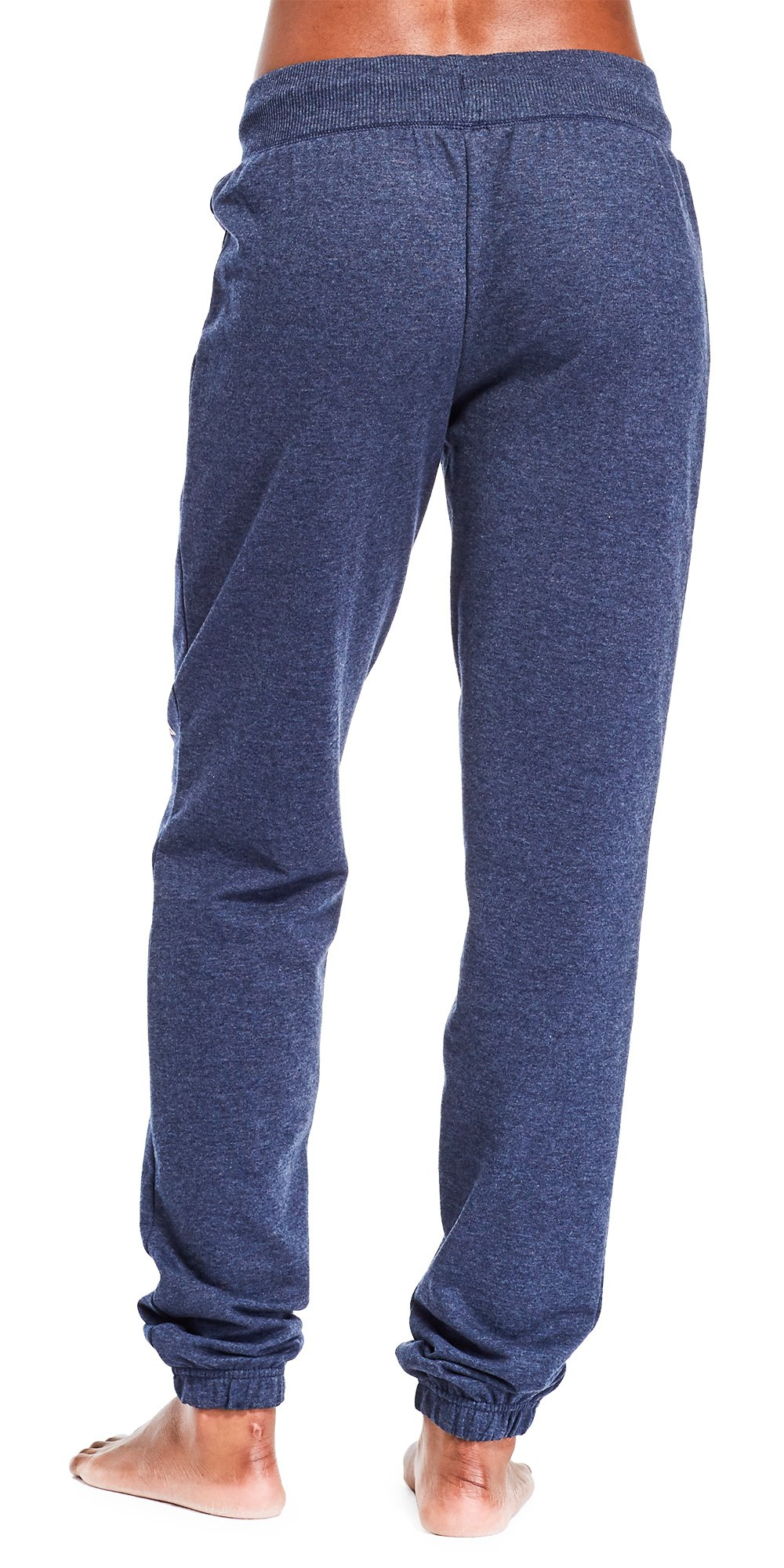 U.S. Polo Assn. Womens Printed French Terry Boyfriend Jogger Sweatpants Navy Heather 3X by U.S. Polo Assn. (Image #2)