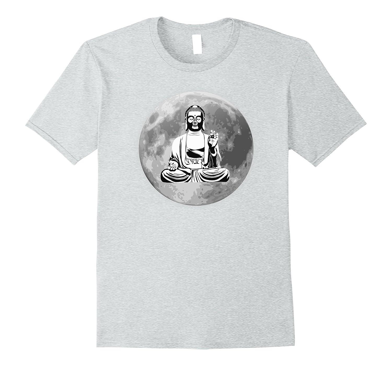 Full Moon Meditating Buddha Yoga Tshirt-Vaci