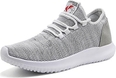 Camvavsr Zapatillas de mujer de moda, ligeras, zapatos de correr sin cordones casuales para caminar, (Gris nuevo), 38 EU: Amazon.es: Zapatos y complementos