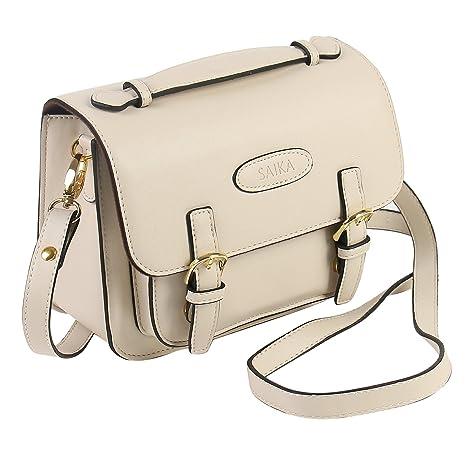 Amazon.com: Saika Retro Vintage funda de bolsa de hombro de ...