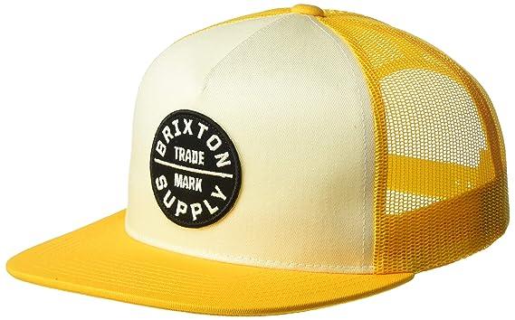a308ec680dfd1 Amazon.com: Brixton Men's Oath III Medium Profile Adjustable MESH HAT,  Gold/Off White, O/S: Clothing