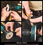 """BeaverCraft PW1 Sharpening Wheel Stropping 3"""" Wheel Leather Wheel Honing Wheel Leather Polishing Wheel Knife Sharpening Wheel Kit Leather Stropping Buffing Wheel Leather Strop Wheel"""