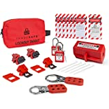 TRADESAFE Electrical Lockout Tagout Kit - Hasps, Clamp on and Universal Multipole Circuit Breaker Lockouts, Loto Tags…