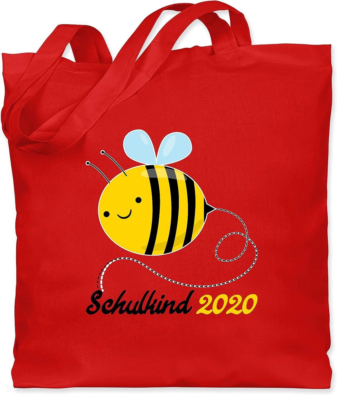 Einschulung und Schulanfang Biene Schulkind 2020 Stoffbeutel aus Baumwolle Jutebeutel lange Henkel Shirtracer