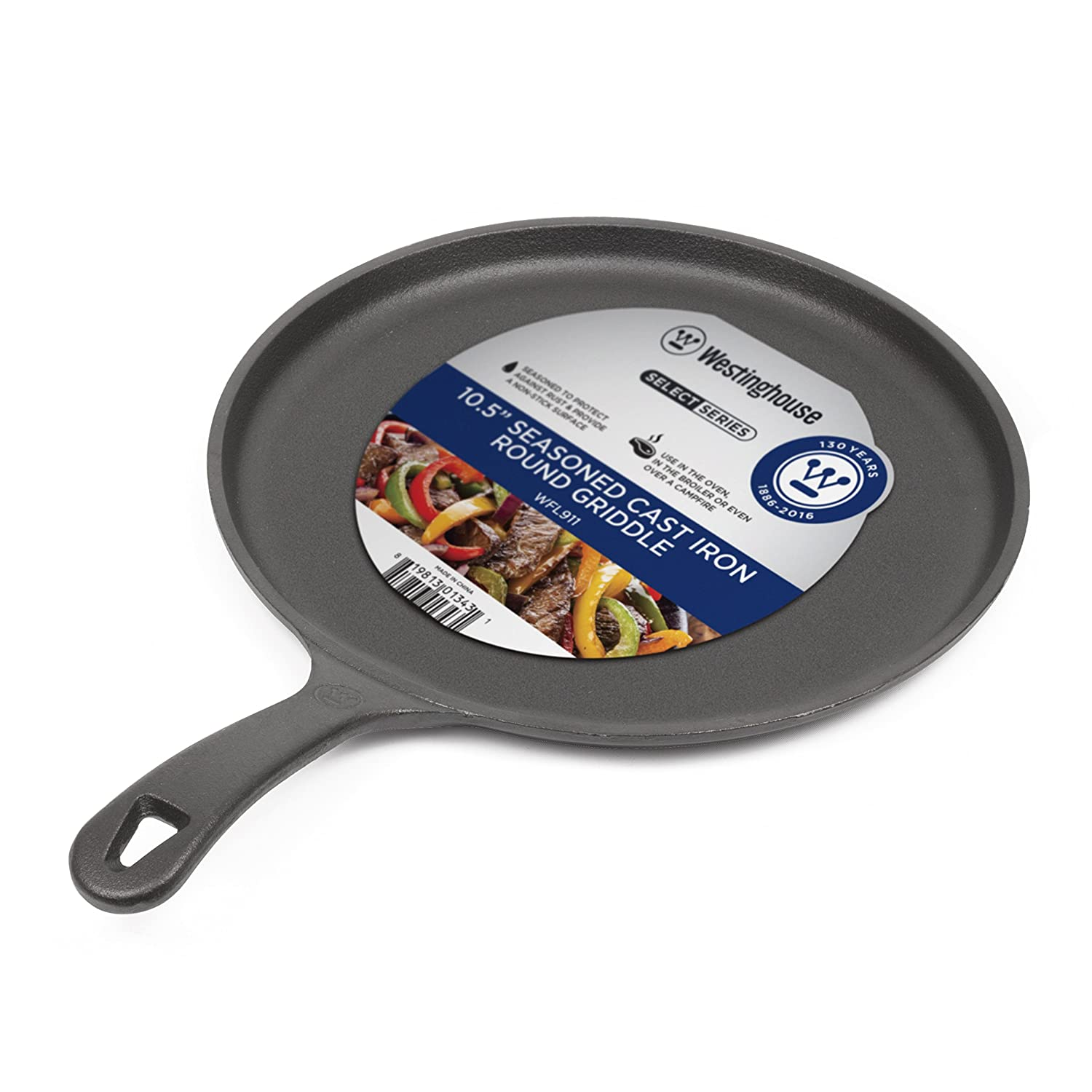 Westinghouse WFL911 Select Series Seasoned Cast Iron 10 1/2 Inch Round Griddle Westinghouse Select