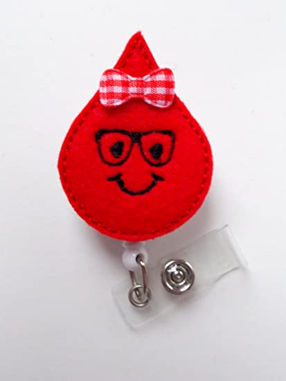 Nerdy Blood Drop - Retractable Badge Reel - Name Badge Holder - Cute Badge  Reel - Badge Reels - Lab Technician Badge - Hospital Badges