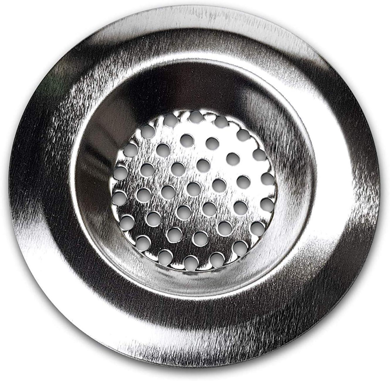 rostfreies Abfluss Sieb /Ø 75mm Haarsieb f/ür Waschbecken Wanne Sp/üle und Dusche TopDeal- Gr/ö/ße