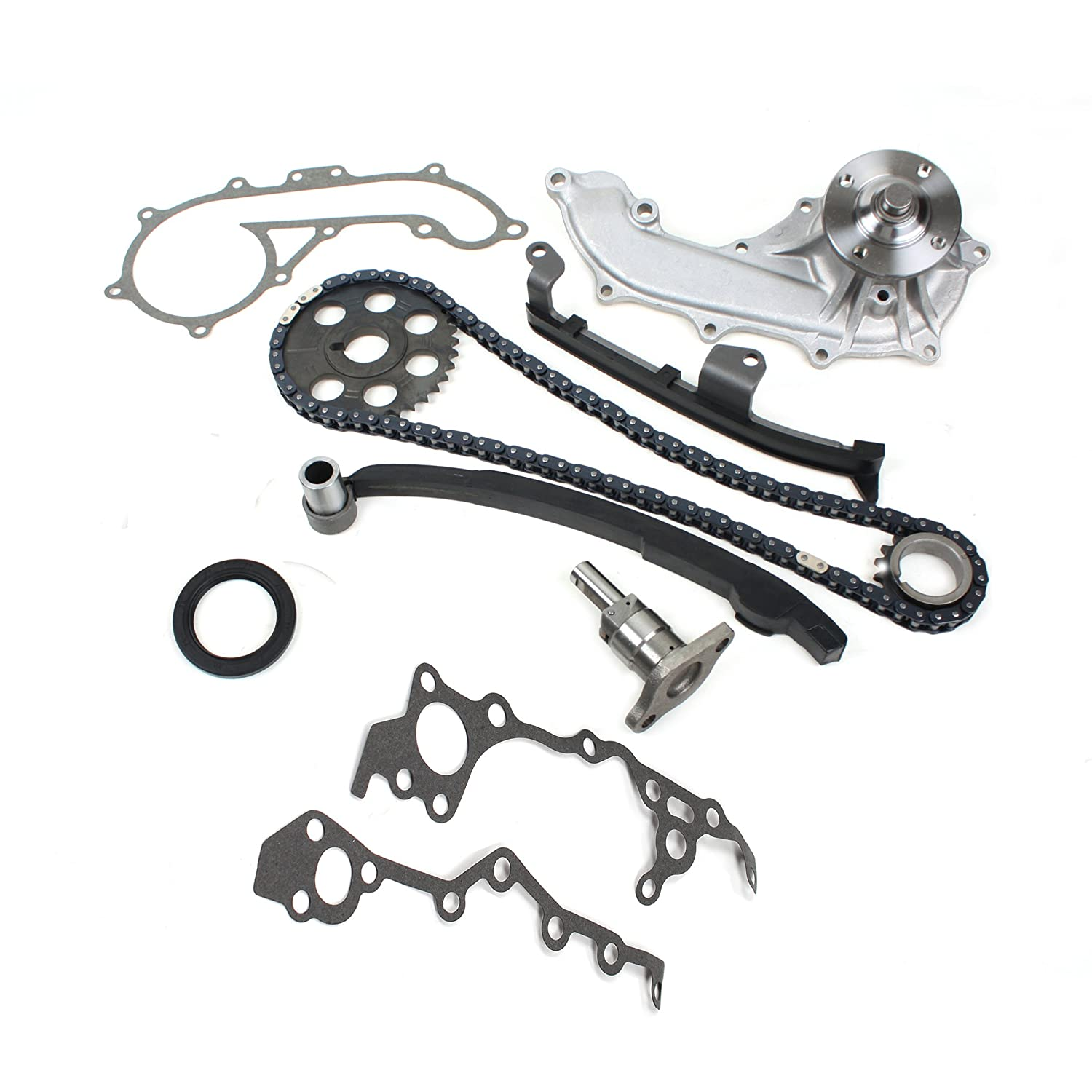 TK10130WP New (102-links) Timing Chain Kit & Water Pump Set for 95-04 Toyota Tacoma 2.4L DOHC 2RZ-FE 2RZFE Engine CNS EngineParts