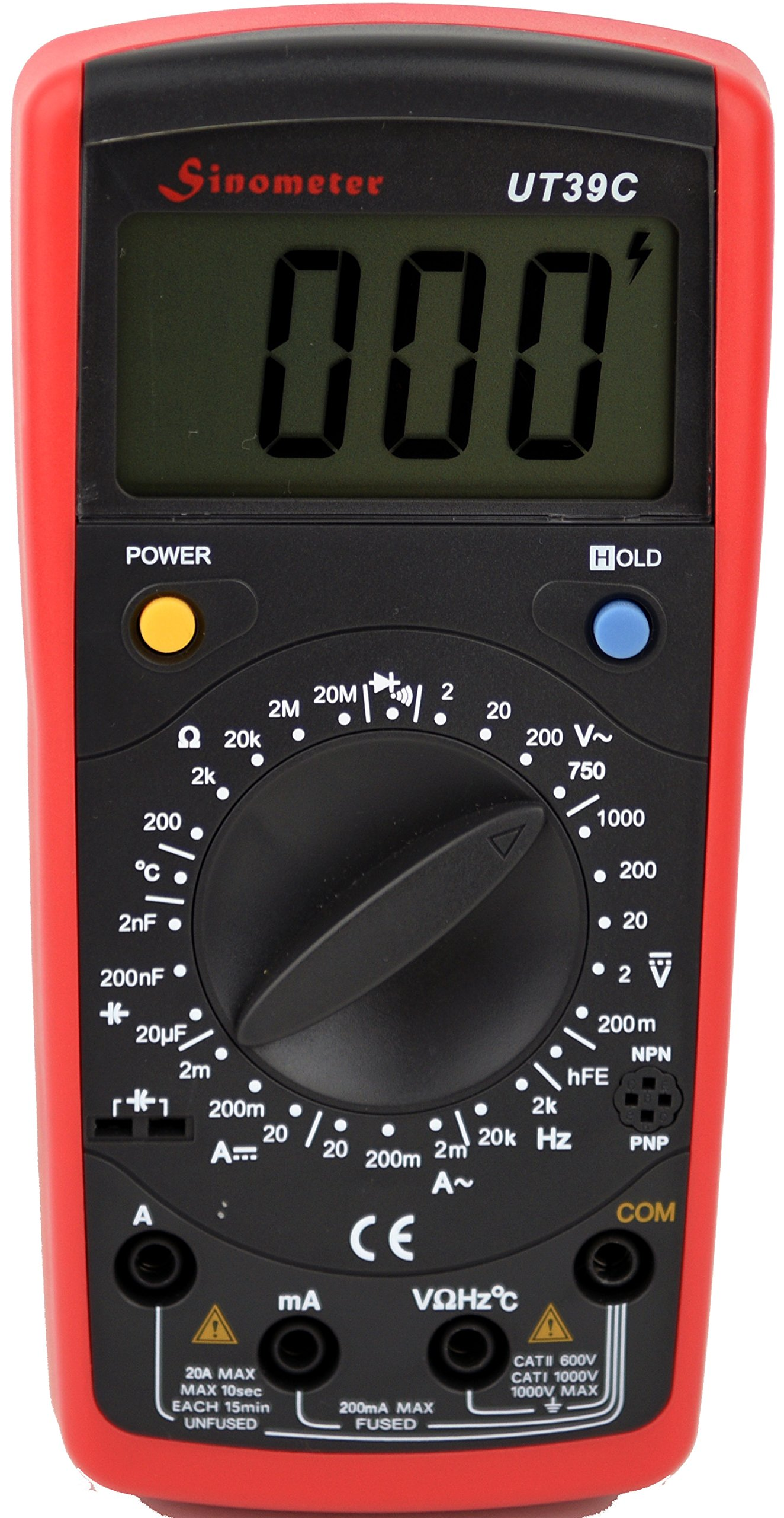 Sinometer OEM Uni-Trend UT39C AC/DC Voltage and Current Up To 20A Measurement, Digital Multimeter With High Resolution and Accuracy
