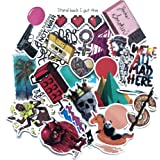 Rapidotzz 100 Pieces Harajuku Style Graffiti Stickers for Laptops Helmets iPhone Ipads Tablets Luggage Doors Bikes Guitar Skateboard Mobiles Stickers