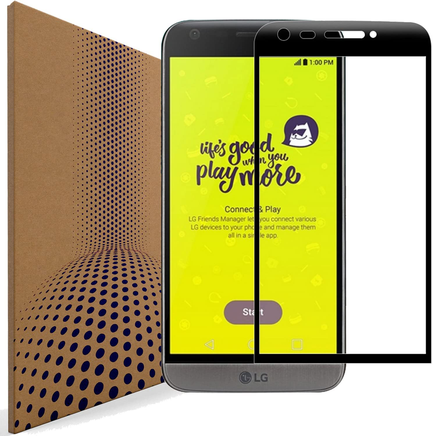 VLP 2 Piezas Compatible con LG G5 Vidrio Protector de Pantalla ...