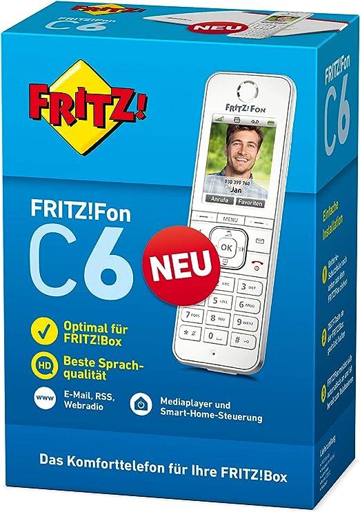 Avm Fritz Fon C6 Dect Komforttelefon Weiß Elektronik