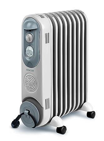 Sencor SOH 4009BE - Radiador eléctrico con llenado de aceite (4 ruedas, 230 V