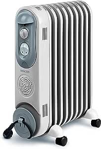Sencor SOH 4009BE 4009BE-Radiador eléctrico con llenado de Aceite (4 Ruedas, 230 V, 50 Hz, 2000W, 2,07 l, 9 aspas)