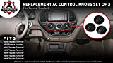AC Climate Control Knob - Set of 3 - Replaces