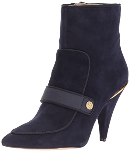 Nine West Women s Westham Fabric Ankle Boot Navy Multi 5 ... dff5750775