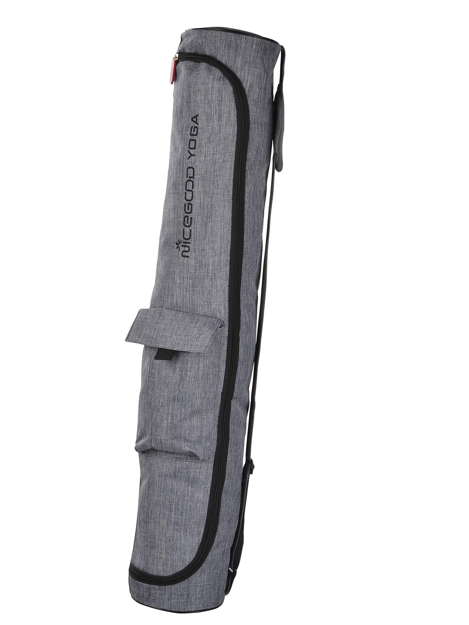 Large yoga mat bag 33 inch in Length with Pocket & Full Zipper Yoga Tote Yoga Mat Duffle Bag