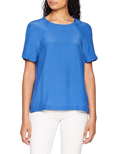 Tommy Hilfiger RAE Top SS, Blusa para Mujer, Azul (Bright Cobalt 381)