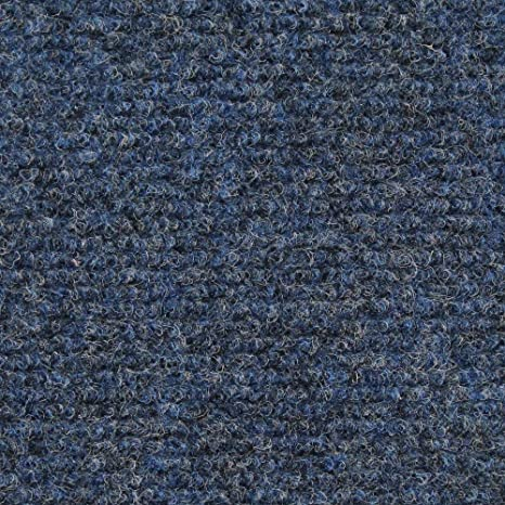 House Home And More Indoor Outdoor Carpet With Rubber Marine Backing Blue 6 Feet X 10 Feet