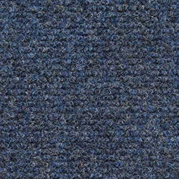 Indoor/Outdoor Carpet With Rubber Marine Backing   Blue 6u0027 X 15u0027