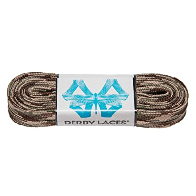 Derby Laces Camouflage 108 Inch Waxed Skate Lace for Roller Derby, Hockey and Ice Skates, and Boots : Sports & Outdoors