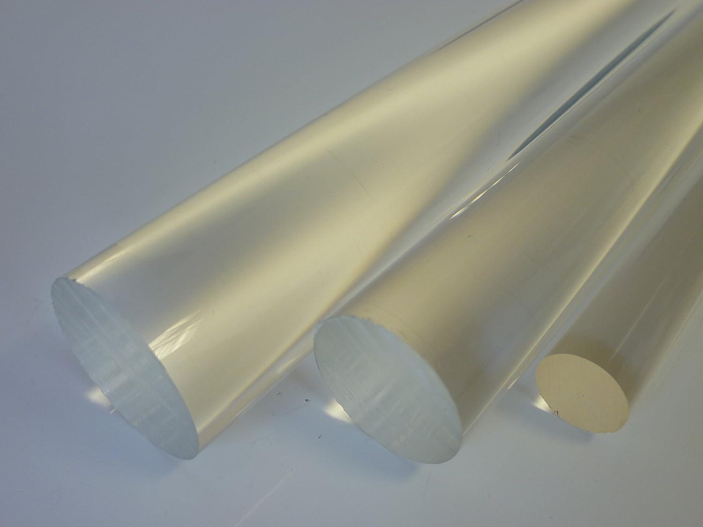 1/mtr. 1000/mm de 0//+ 3/mm /longueur env B /& T m/étal verre acrylique transparent rundstab /Ø 6/mm incolore/