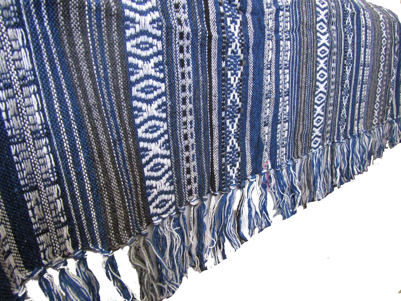 Large Handwoven Tribal Blanket Aztec Ikat Bedspread Queen Size 100% Cotton 90'' x 85'' by Blue Orchid (Image #2)