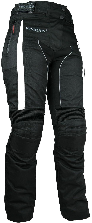 M HEYBERRY Damen Motorradhose sportlich Textil Schwarz Wei/ß Gr 38