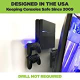 HIDEit 4 Original PS4 Wall Mount and (2) Controller Wall Mounts (PlayStation 4 Original Bundle) - Works with Limited Edition PS4 Original Consoles - Made in the USA and Trusted Worldwide