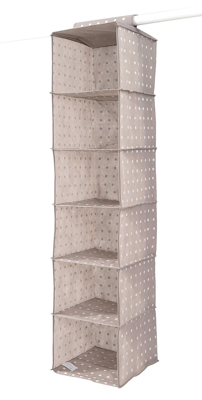 Compactor Rivoli Wardrobe Clothes Organiser with 6 Compartments, Cappuccino/White C.I.E. Europe B00I8NRI4W
