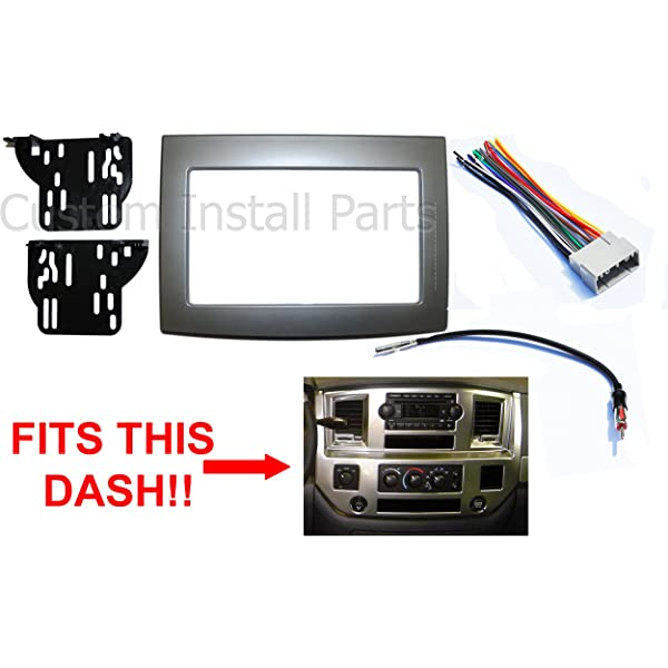Amazon.com: Black Dodge Ram Radio Stereo Double Din Dash ... on