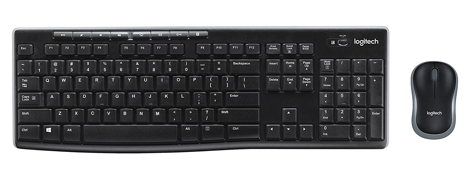 Amazon.com: Logitech Wireless Combo MK270 - Keyboard and mouse set - 2.4 GHz - French: Computers & Accessories