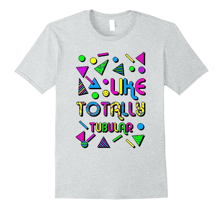 80's Tshirt Totally Tubular Neon-ANZ