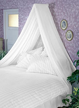 WHITE BED CANOPY SET Soft Sheer White VOILE u0026 Rod Fixing Kit COMPLETE EASY FIX by & Amazon.com: WHITE BED CANOPY SET Soft Sheer White VOILE u0026 Rod ...