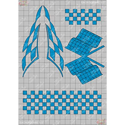 TRC8523TP Checker Pack Hobby Graphic Vinyl Stencil/Mask Polycarbonate Paint: Toys & Games