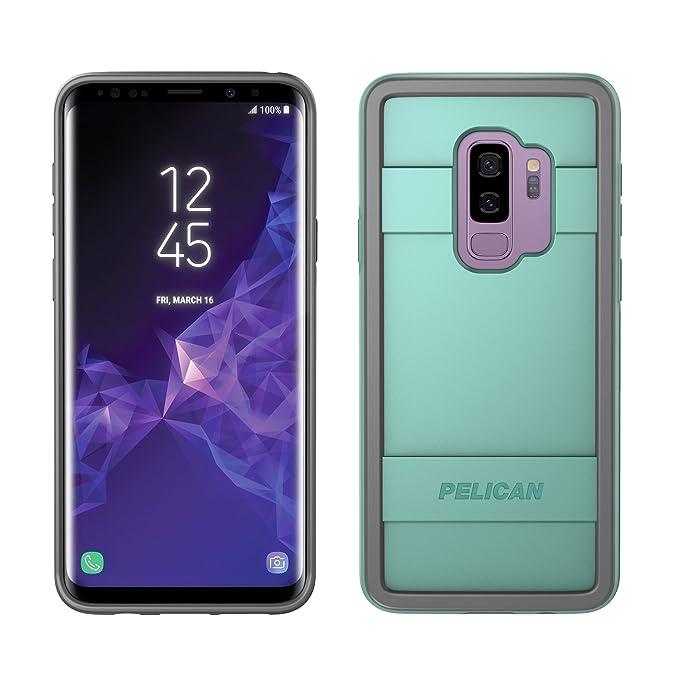 buy popular 2f307 f3387 Samsung Galaxy S9+ Case - Pelican Protector Case Samsung Galaxy S9+  (Aqua/Grey)