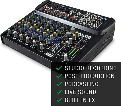 Alto Professional ZMX122FX - Mesa de mezclas compacta de 8 canales ...