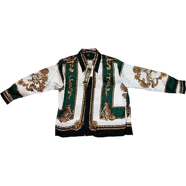 Kid/'s Silk Casual Shirt Tiger Design