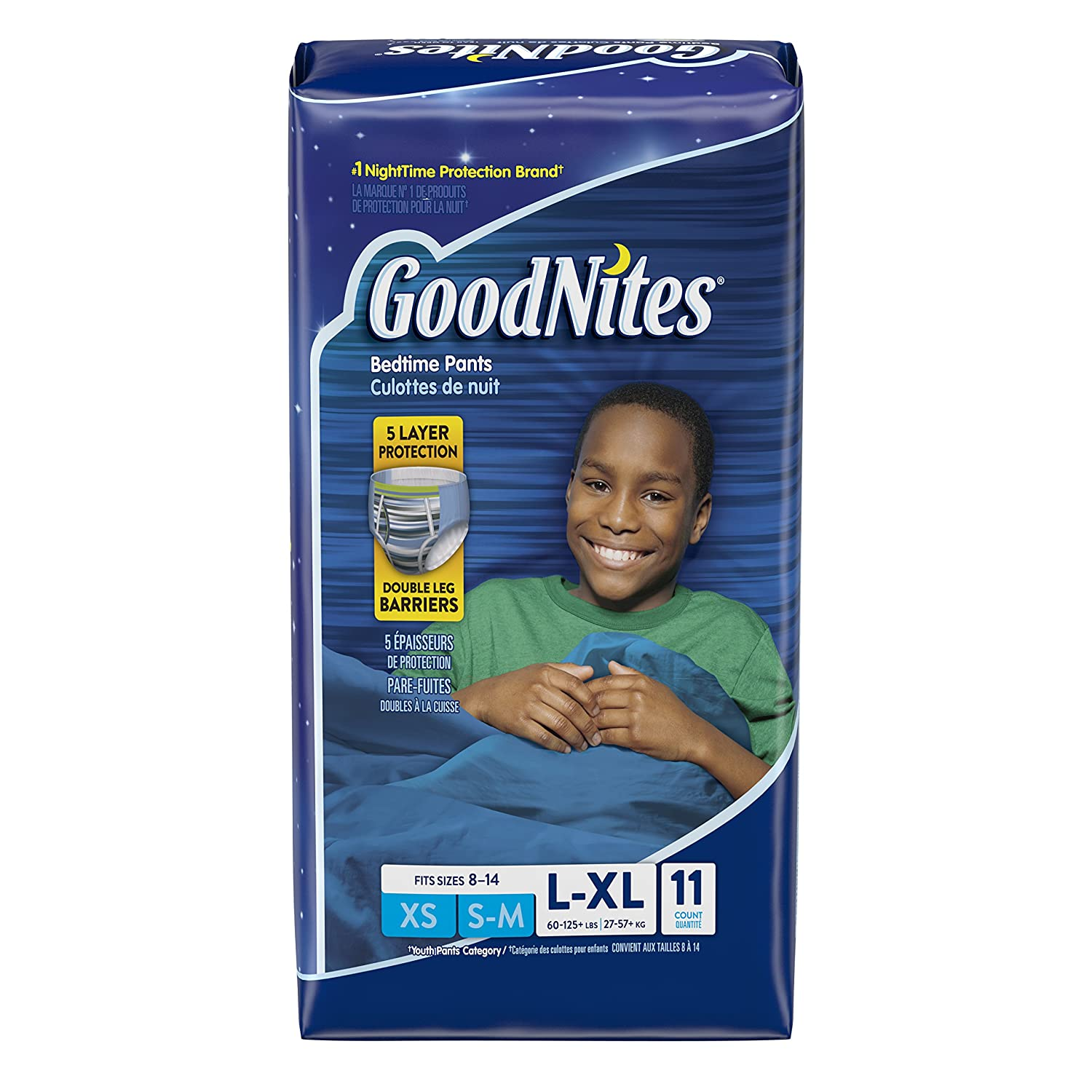 GoodNites Bedtime Bedwetting Underwear for Boys, L-XL, 11 Ct. (Packaging May Vary) Kimberly-Clark 10036000413158