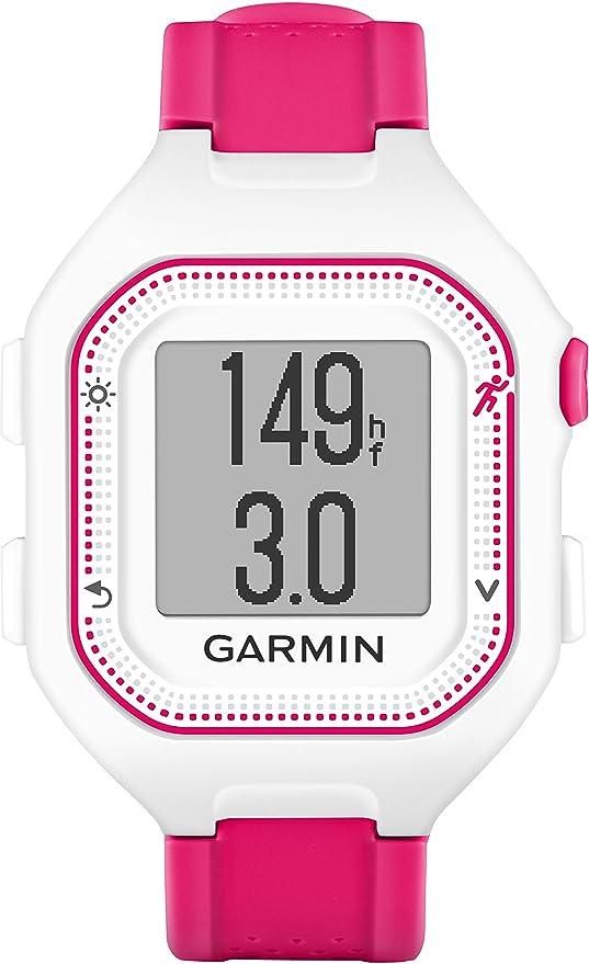 Garmin Forerunner 25 - Montre de Running Connectée avec Ceinture Cardio-fréquencemètre - Blanc et Rose (Small): Amazon.fr: GPS & Auto
